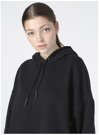 Aeropostale Aeropostale Kadın Kapüşonlu Siyah Sweatshirt Siyah